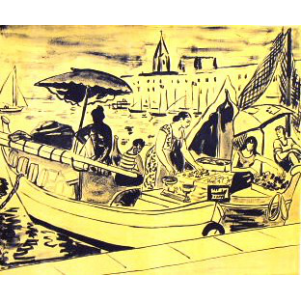 Tableau de marine 2 galerie dutilleul for Vente de poisson