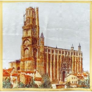 Cathédrale d'Albi Gravure Ancienne