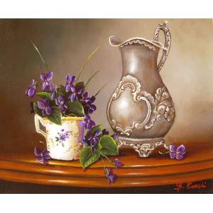 Etain Et Violettes